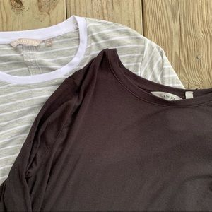 Athleta Lot Of 2 Long Sleeve Tops Size Medium